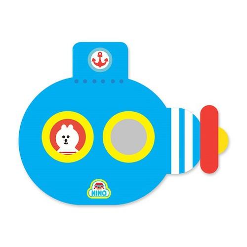 韓國NINO 兒童彩繪壁貼鏡-海底歷險記-藍色