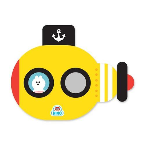韓國NINO|兒童彩繪壁貼鏡-海底歷險記-黃色
