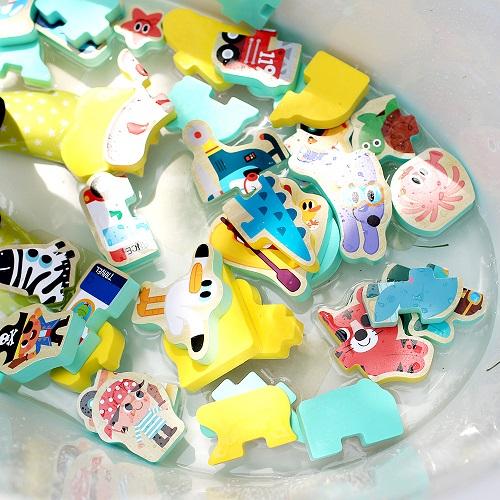 韓國NINO|立體拼圖洗澡玩具-動物王國