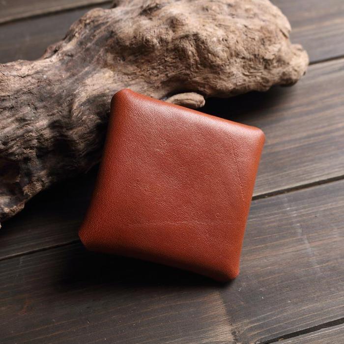 (複製)SoLoMon|瑪德蓮 手工皮革零錢包 (2色可選)