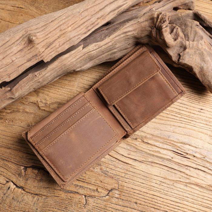 (複製)SoLoMon| 菜脯手工皮革零錢包 鑰匙包(棕)