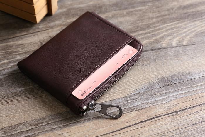 SoLoMon 黑麋鹿 簡約真皮牛革 卡片零錢包 (3色可選)