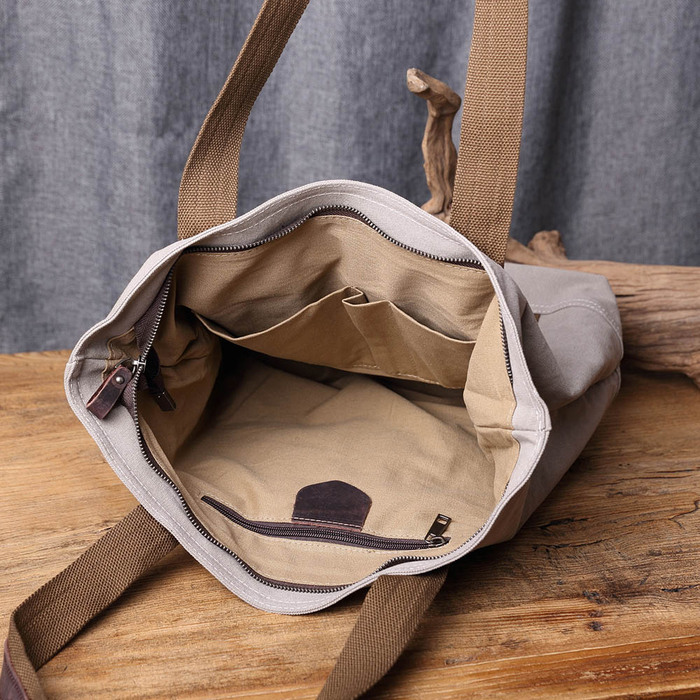 SoLoMon 牛皮革機能帆布肩背包(4色可選)
