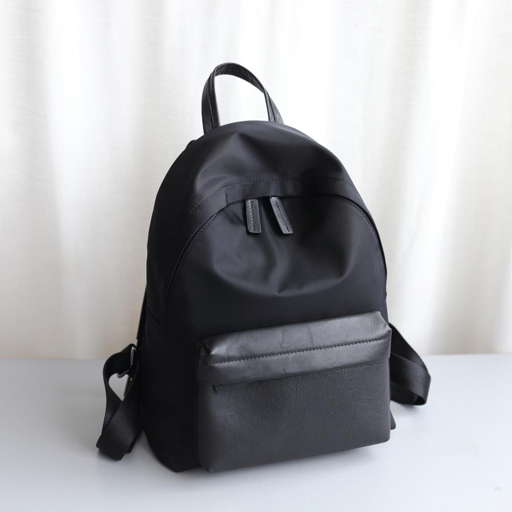 SoLoMon 尋覓 真皮機能SC布料 旅行後背包 (黑)