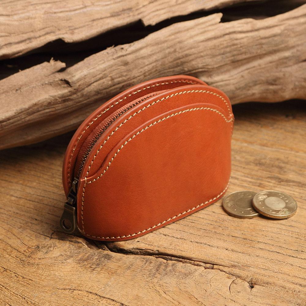 SoLoMon|瑪德蓮 手工皮革零錢包 (2色可選)