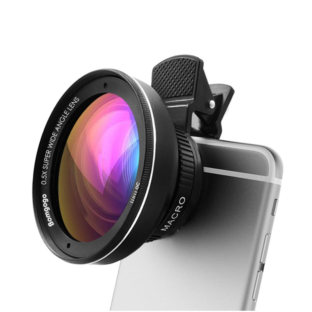 Bomgogo|Govision L3 類單眼獨家設計-超廣角微距手機大鏡頭(黑色/含框58mm)