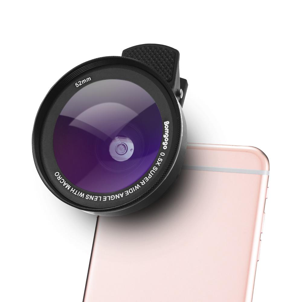 Bomgogo|Govision L5 mini 類單眼獨家設計-超廣角微距手機大鏡頭(黑色/含框52mm)