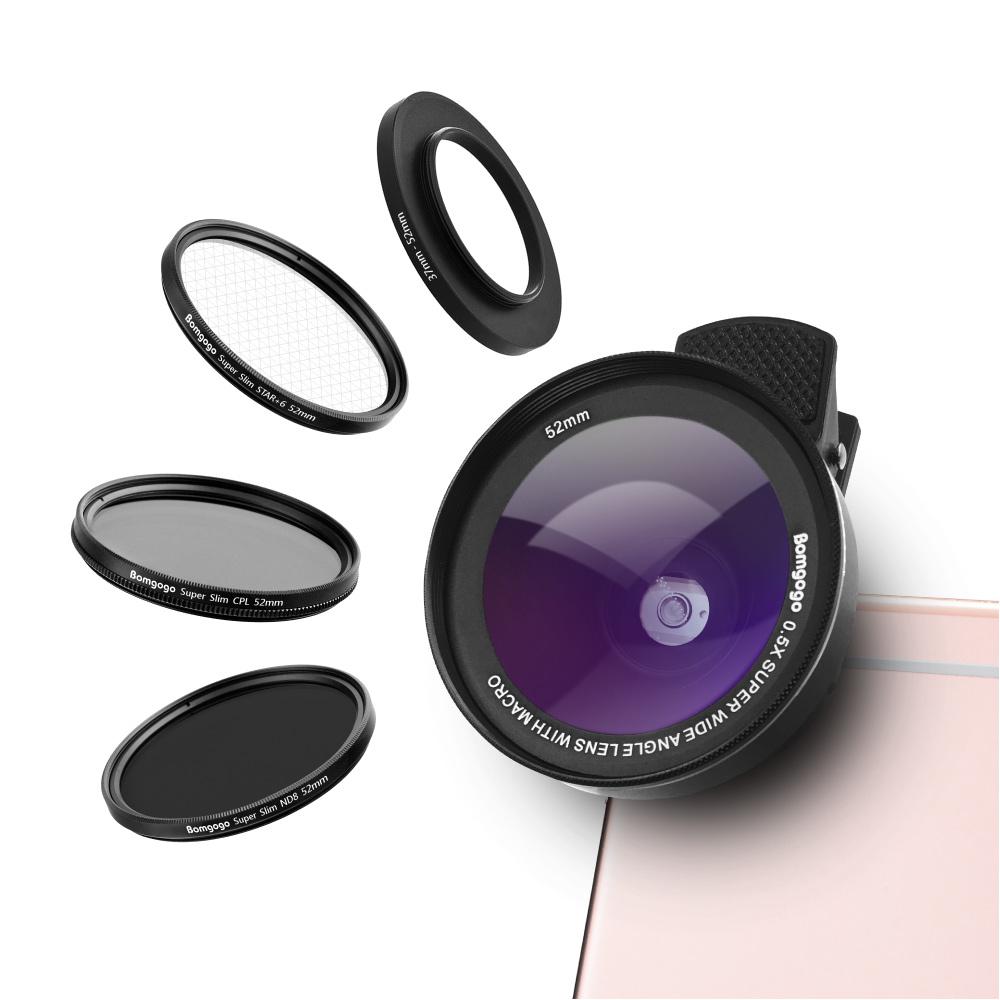 Bomgogo|Govision L5 Combo 類單眼獨家設計-六合一52mm專業級手機鏡頭組