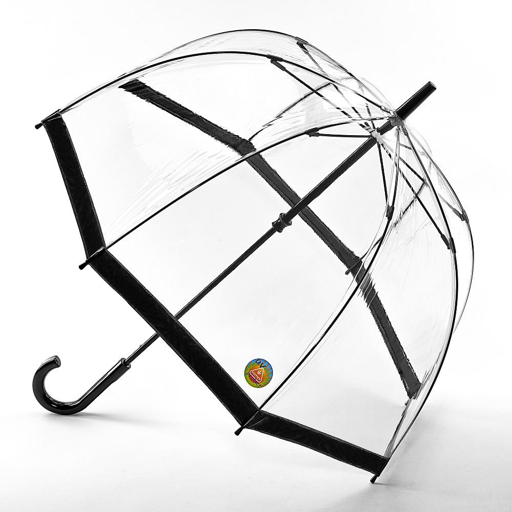 Fulton富爾頓|抗UV鳥籠傘-時尚黑