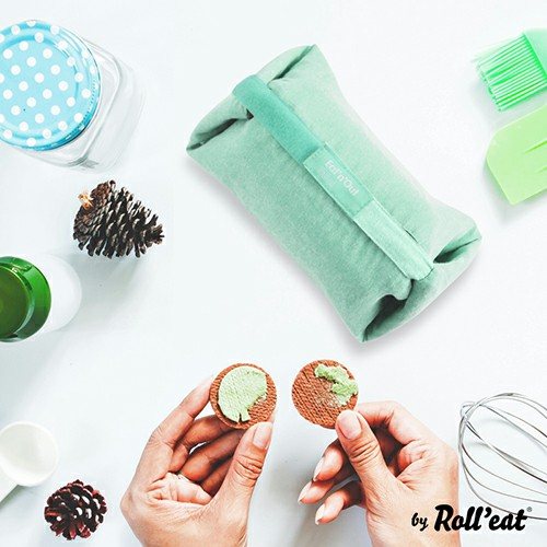 Roll′eat | 西班牙二合一餐袋-馬卡龍系列(薄荷綠)