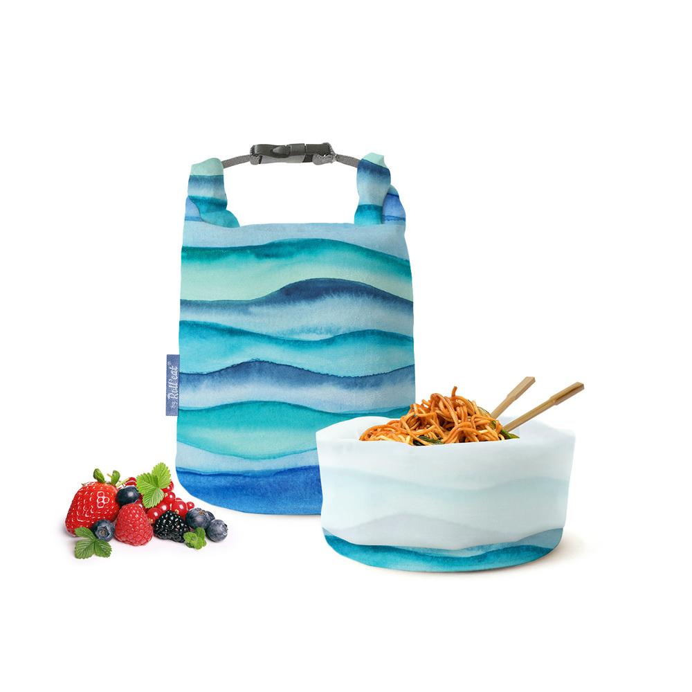 Roll′eat | 西班牙食物袋 桶裝食物袋-印花(藍色海洋)