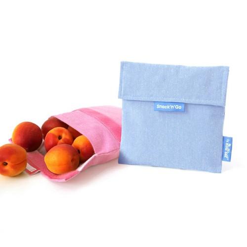 Roll′eat|西班牙食物袋 吃貨零食袋(M)-馬卡龍(嬰兒藍)