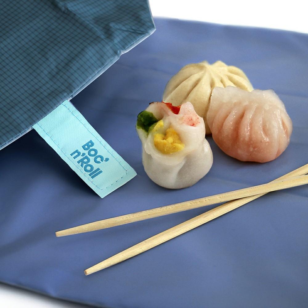 Roll′eat   西班牙食物袋 搖滾輕食袋-細方格系列(深海藍)