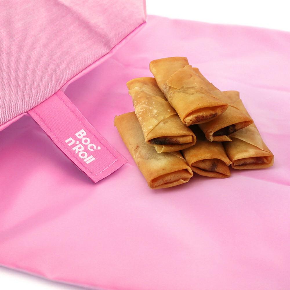 Roll′eat | 西班牙食物袋 搖滾輕食袋-馬卡龍(櫻花粉)