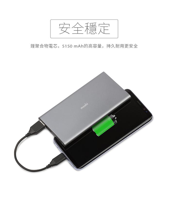(複製)Moshi|IonBank 5K 超容量鋁合金行動電源(灰)