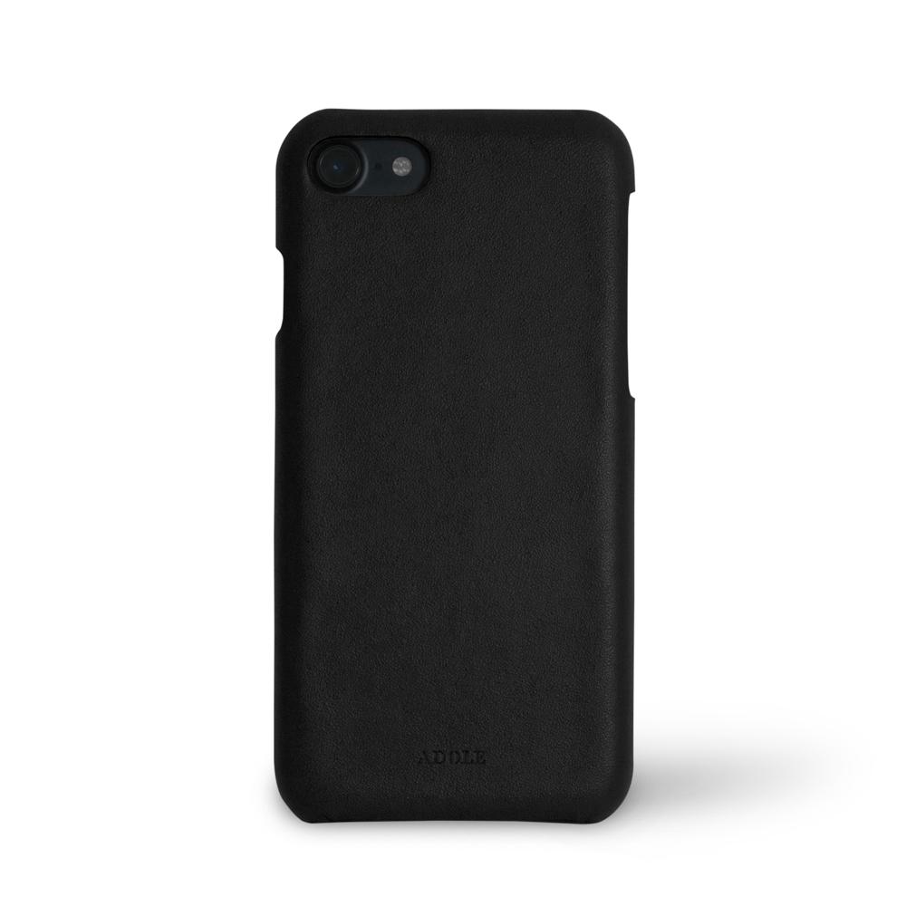 ADOLE iPhone 7/8 4.7吋真皮防潑水手機殼-黑