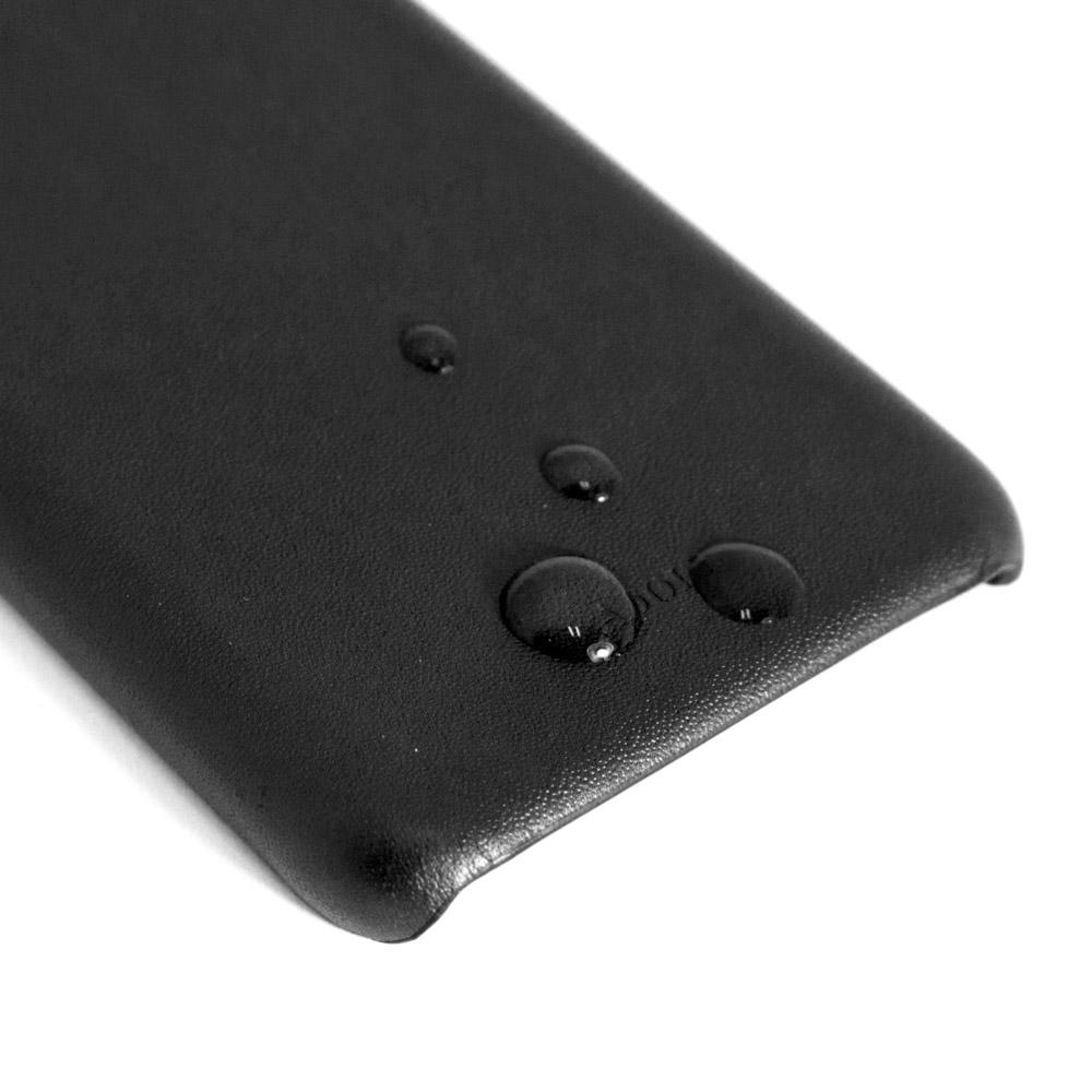 ADOLE iPhone X 5.8吋真皮防潑水手機殼-黑
