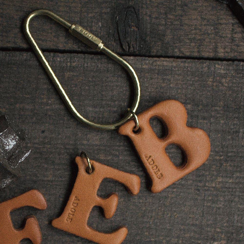 ADOLE|真皮字母鑰匙 / 水滴型 (字母任選)