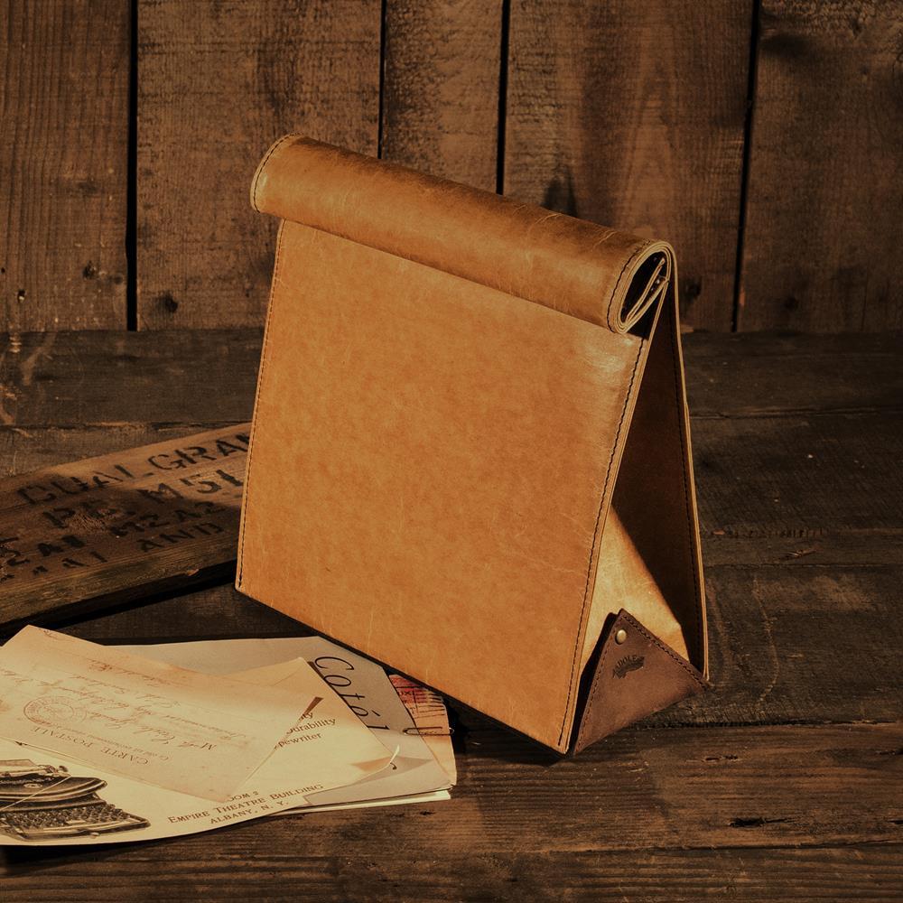 ADOLE|蠟紋布-午餐袋造型復古包