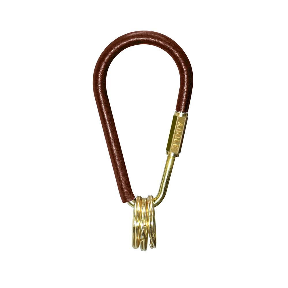 ADOLE|皮革黃銅鑰匙圈/水滴型