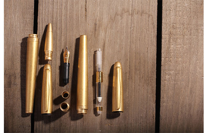 SKB文明鋼筆 | 黃銅版系列鋼筆(木盒)