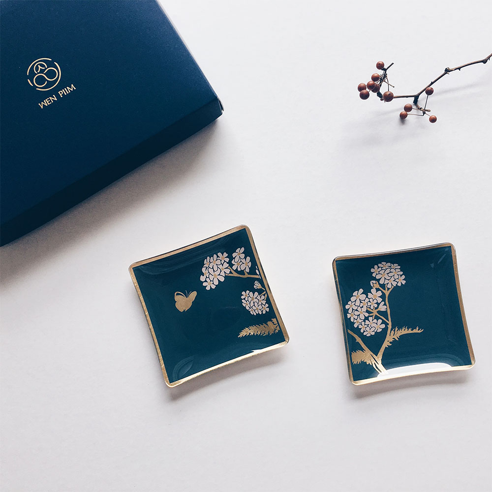 WEN PIIM | Venus Healing Gold Foil Square Plate x 維納斯的治癒方形器皿