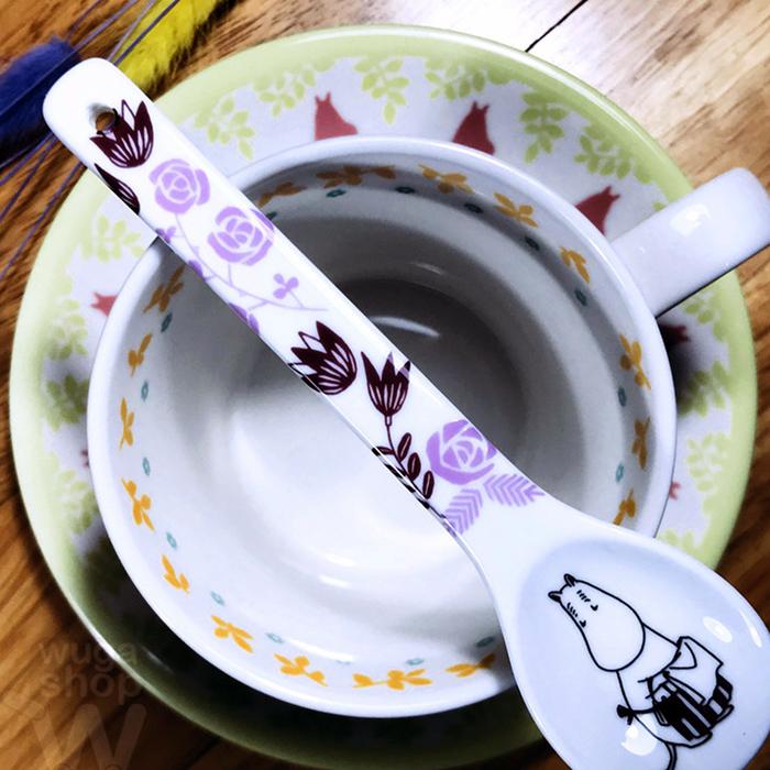 yamaka MOOMIN嚕嚕米花朵系列-5入陶瓷湯匙組