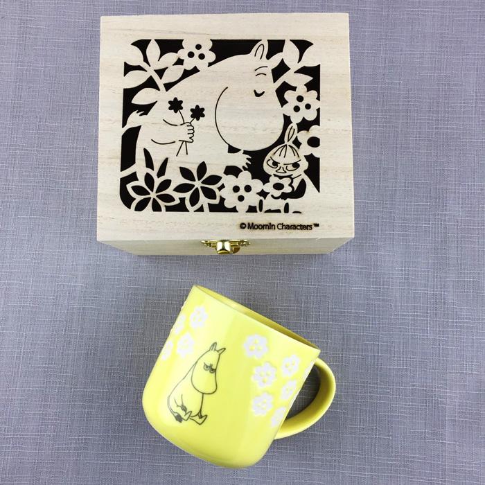 yamaka|MOOMIN嚕嚕米小花系列-嚕嚕米木盒馬克杯