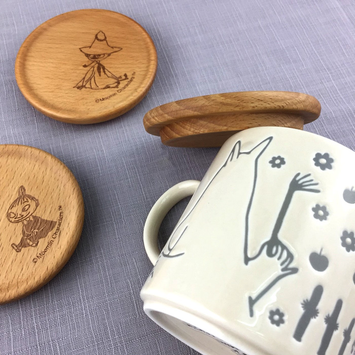 yamaka MOOMIN嚕嚕米天然木系列-阿金杯蓋(墊)