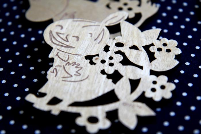 yamaka|MOOMIN嚕嚕米天然木系列-小不點木雕杯墊