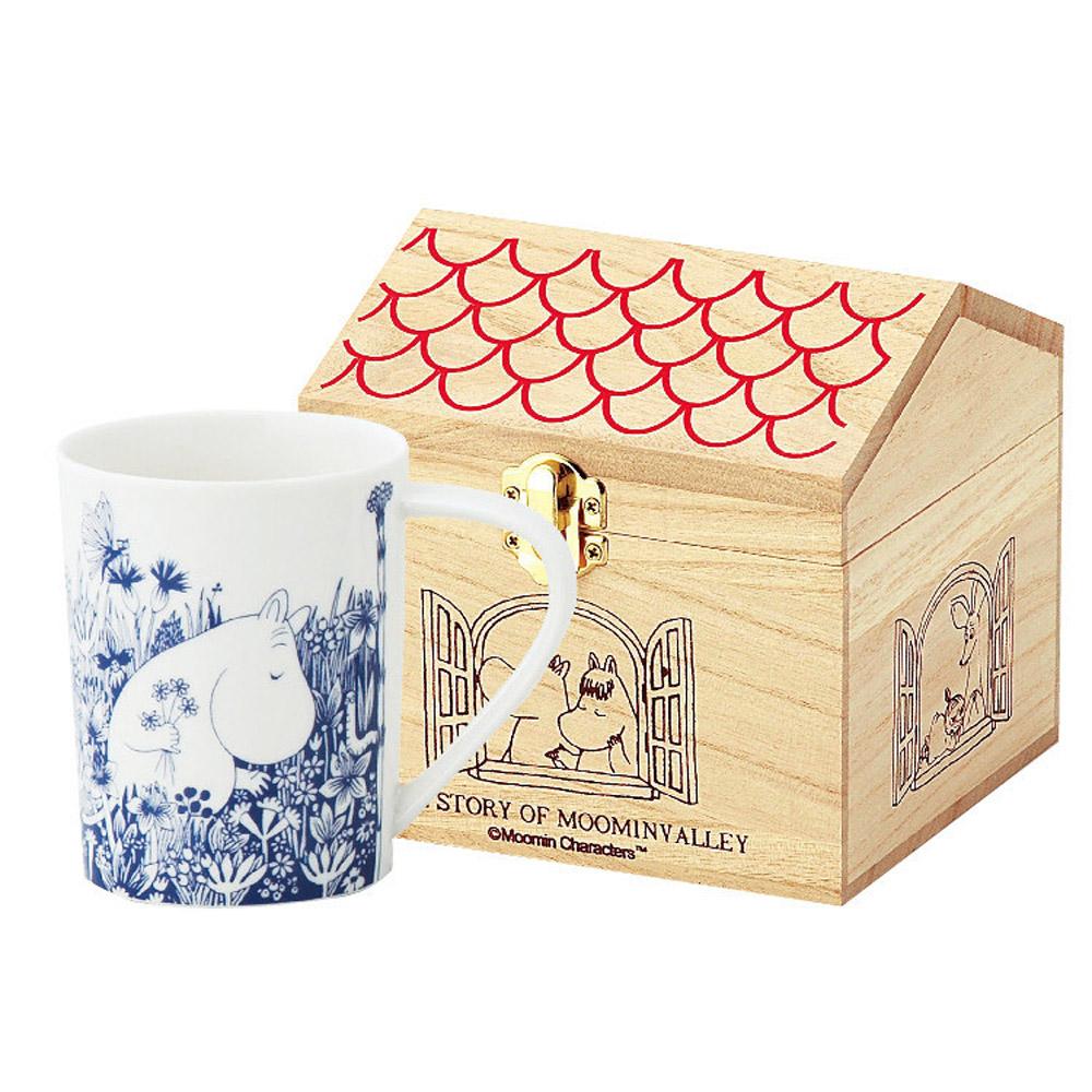 yamaka|MOOMIN嚕嚕米花繪系列-嚕嚕米木盒馬克杯