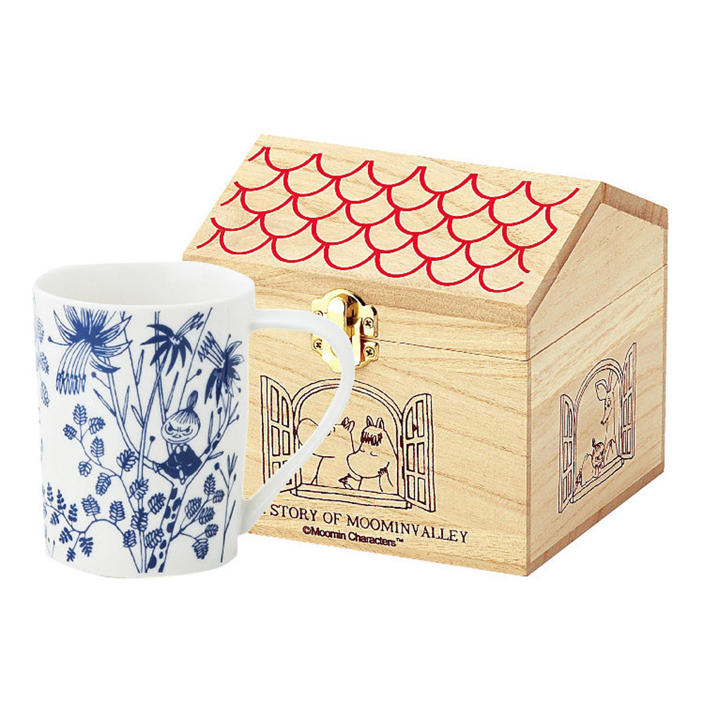 yamaka|MOOMIN嚕嚕米花繪系列-小不點木盒馬克杯
