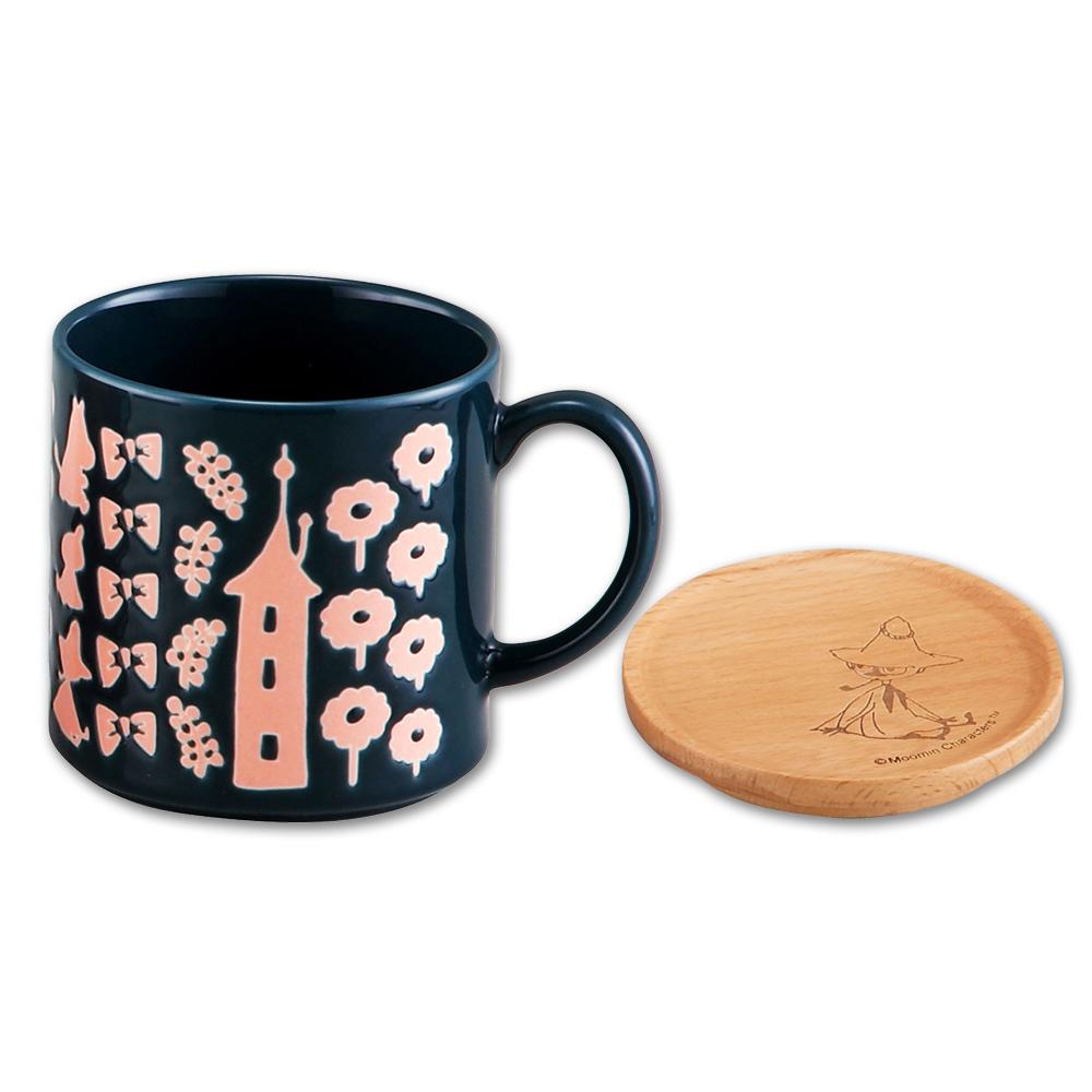 yamaka|MOOMIN嚕嚕米背影系列-阿金馬克杯+杯墊蓋