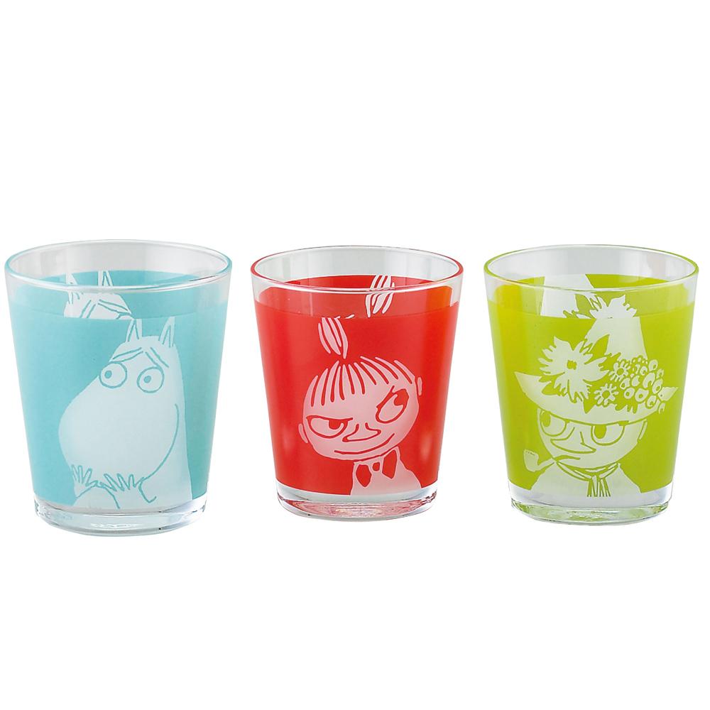 yamaka MOOMIN嚕嚕米表情系列-玻璃杯3入組