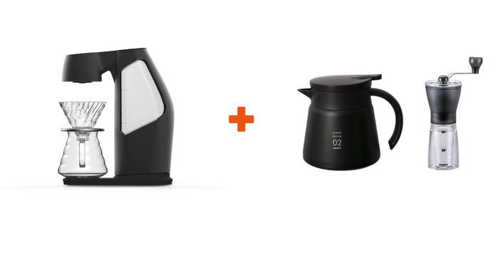 Hiroia SAMANTHA智慧型手沖咖啡機 + HARIO 手搖磨豆機 MSS-1TB + HARIO 保溫壺 VHS-60B