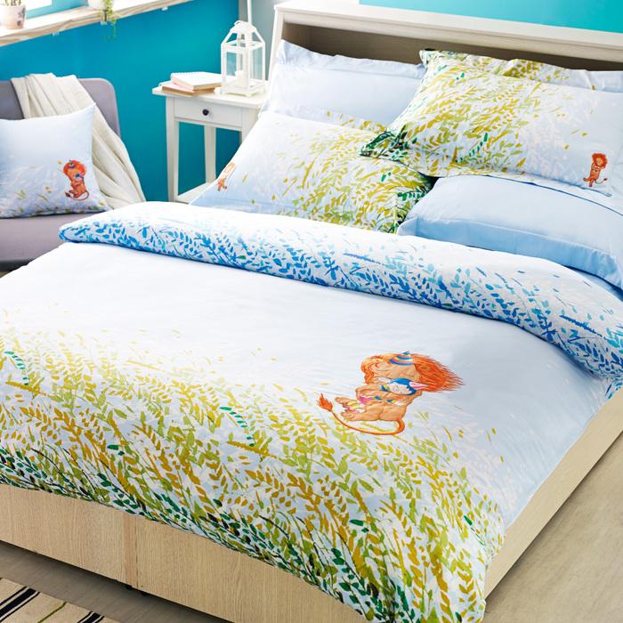 (複製)Kidult|忘記親一下 海洋男孩 兩用被床包組 - 雙人
