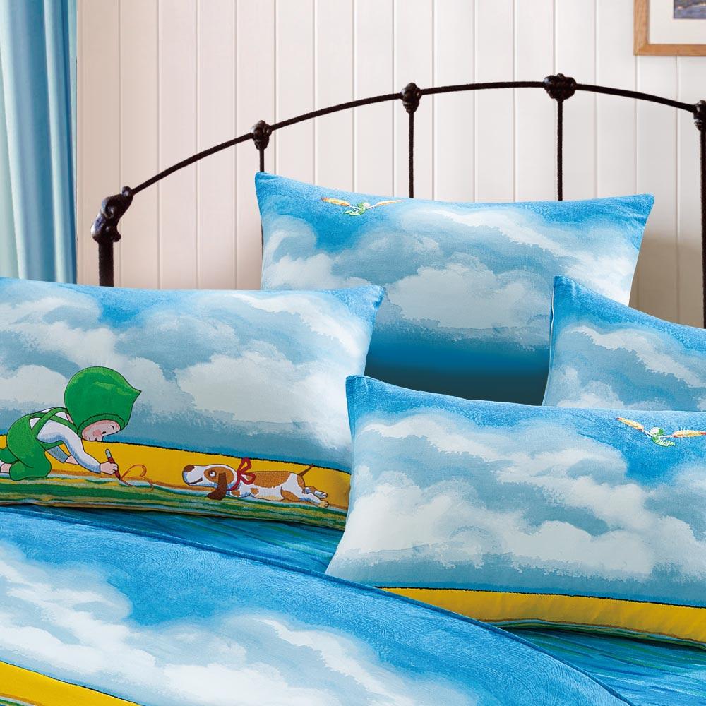 Kidult|忘記親一下 海洋男孩 被單床包組 - 雙人加大