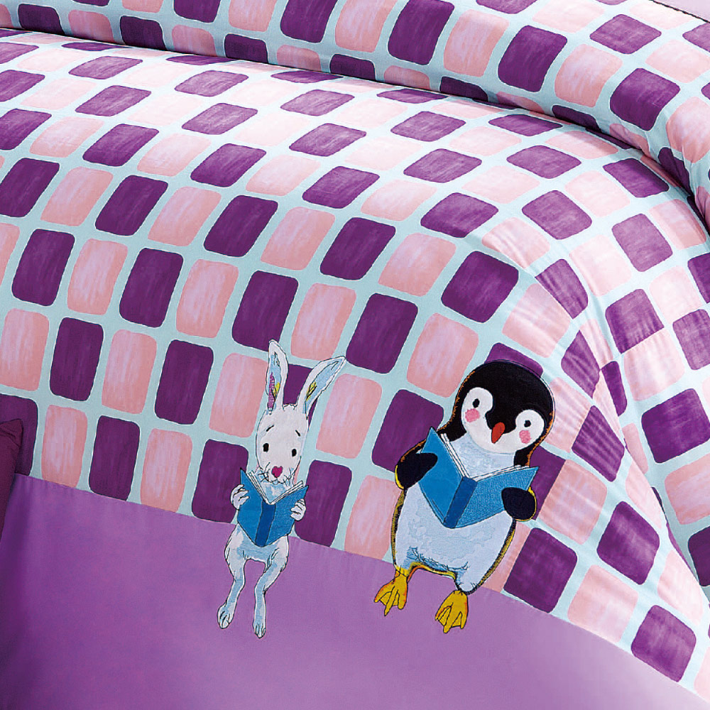Kidult|忘記親一下 親親企鵝 被單床包組 - 雙人加大