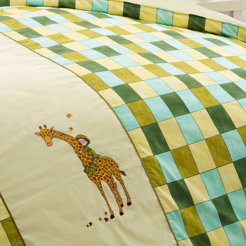 Kidult|擁抱 擁抱長頸鹿 被單床包組 - 雙人加大