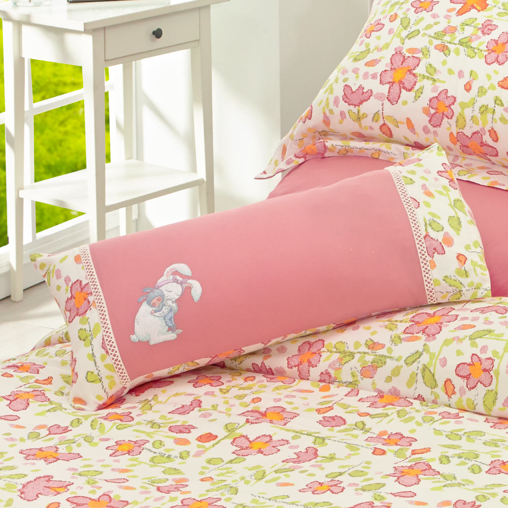 Kidult| 擁抱兔子 兩用被床包組 - 單人(內贈+ 擁抱兔子腰枕)