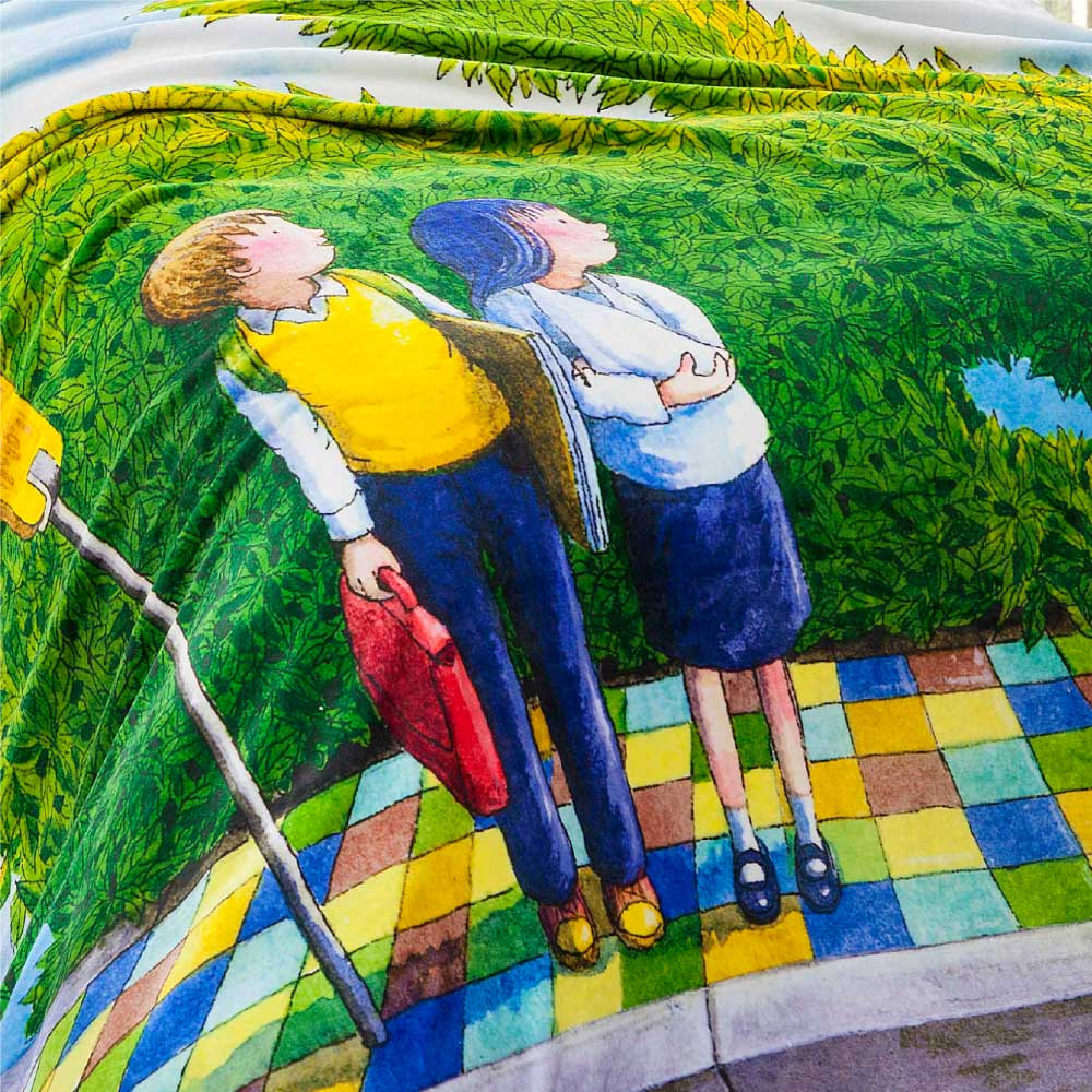 Kidult|星空 公車之戀  數位印染  法蘭絨 四季毯