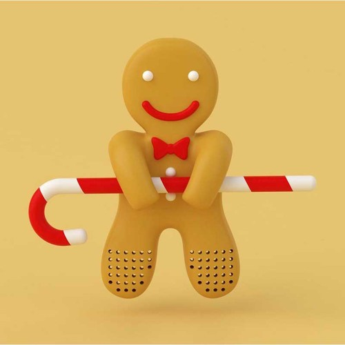 Hikalimedia|Gingerbread man 薑餅人泡茶器