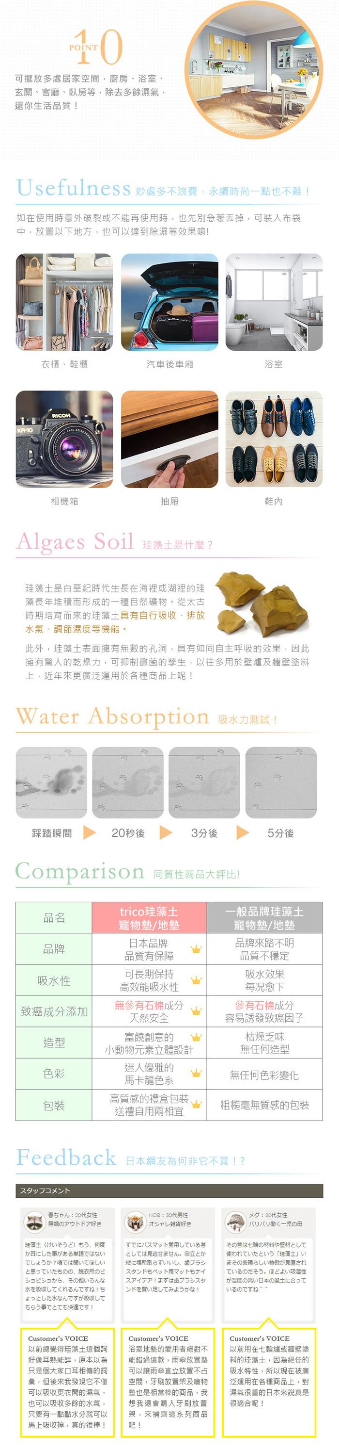 (複製)trico|無垢珪藻土餐具晾乾板