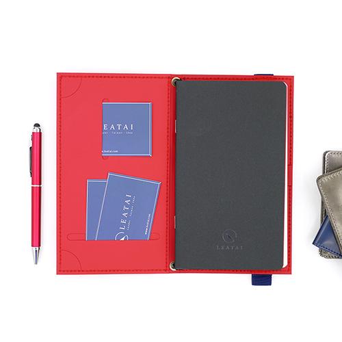 LEATAI 磊泰|Walking系列筆記本-Ultra Slim月計畫組合-艷紅色
