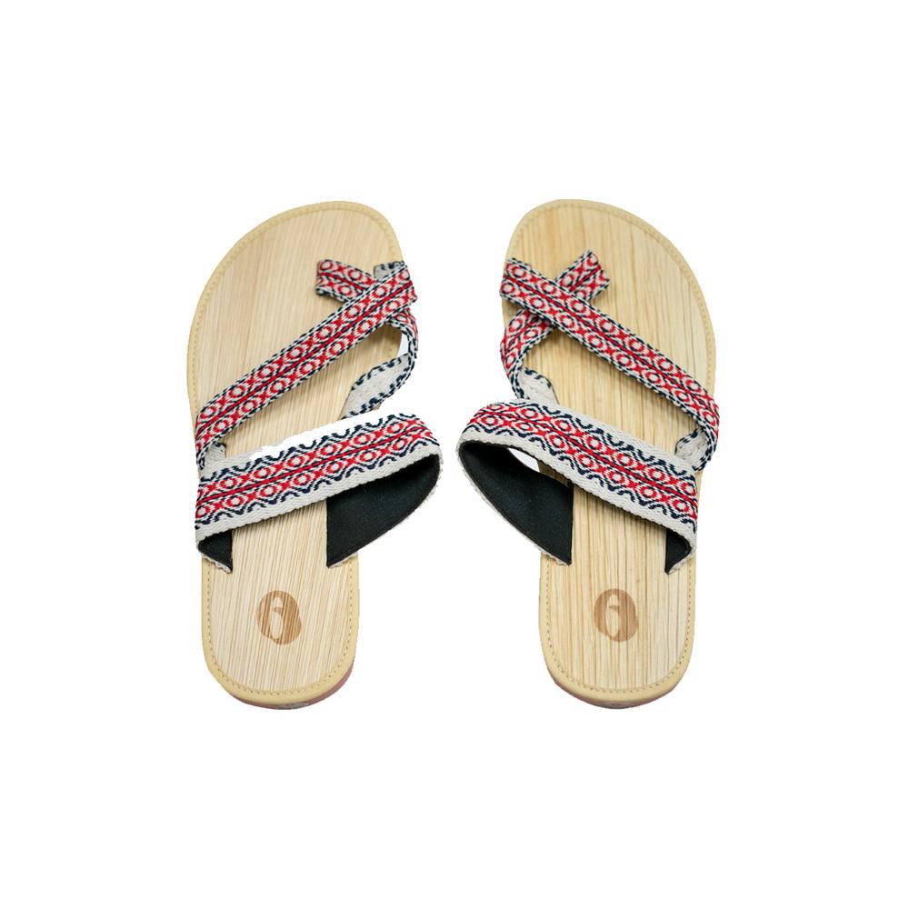 米麻岸工作室│泰雅織帶檳榔鞘拖鞋女版#5-#9
