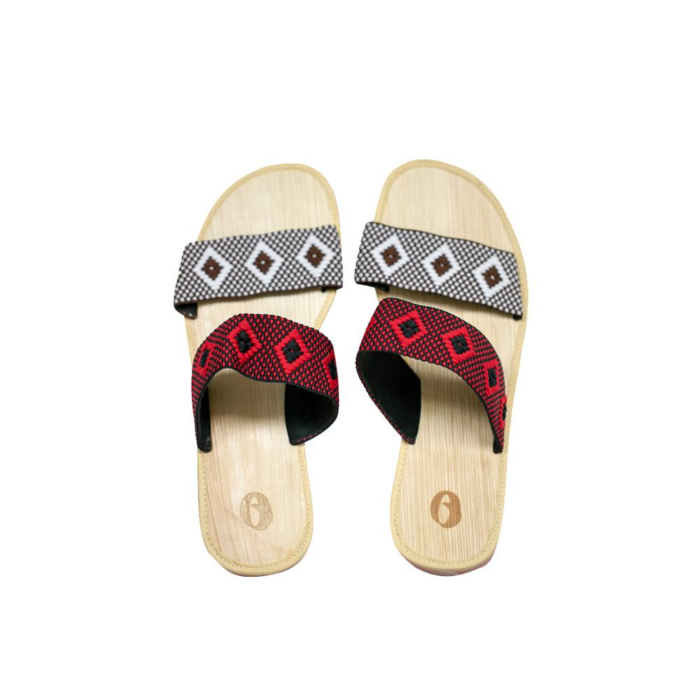 米麻岸工作室│祖靈之眼織帶檳榔鞘拖鞋女版#5-#9
