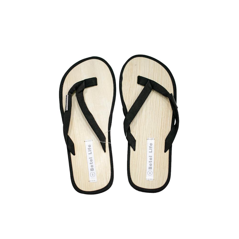 米麻岸工作室│極簡素色檳榔鞘拖鞋(黑)男女同版#5-#11