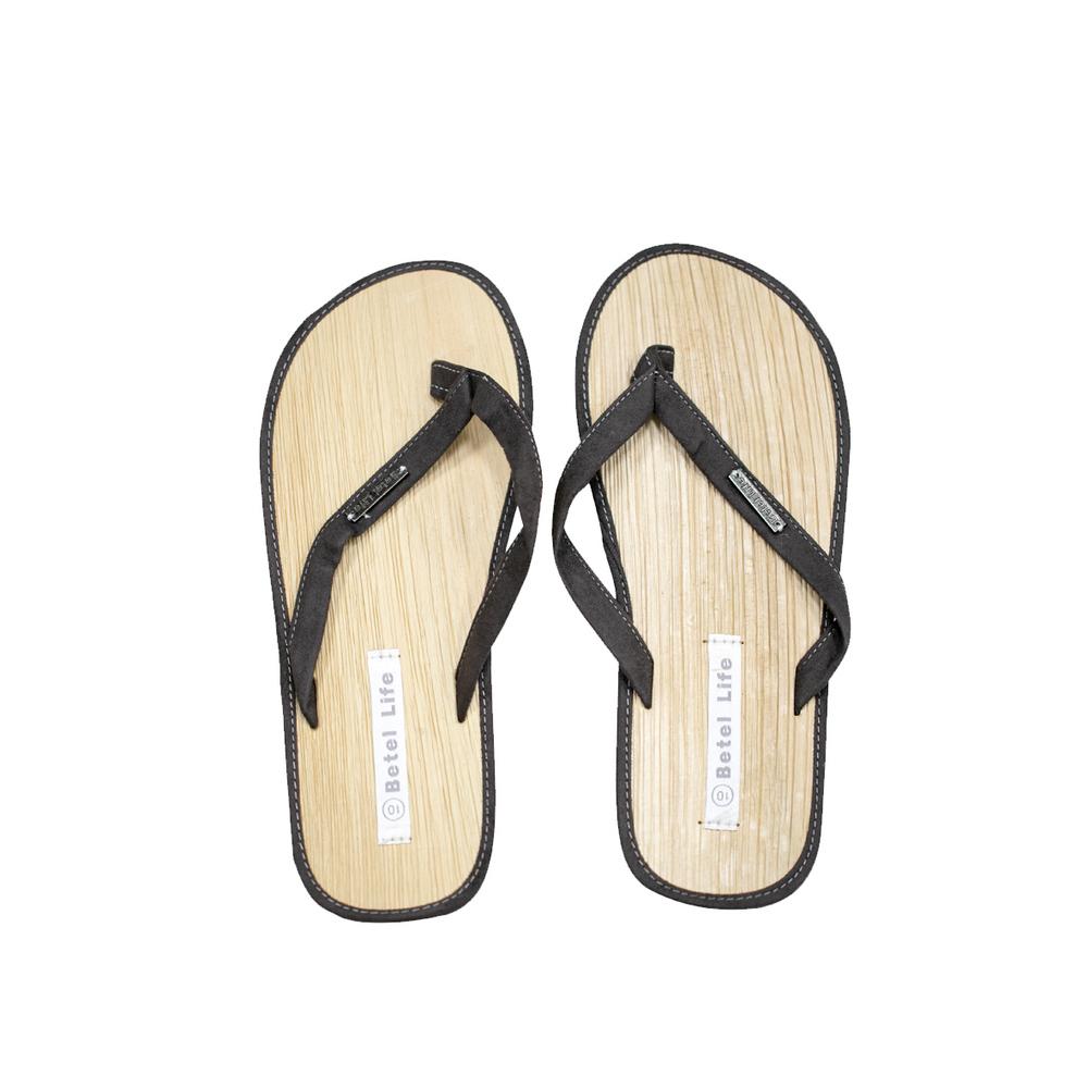 米麻岸工作室│極簡素色檳榔鞘拖鞋(咖)男女同版#5-#11