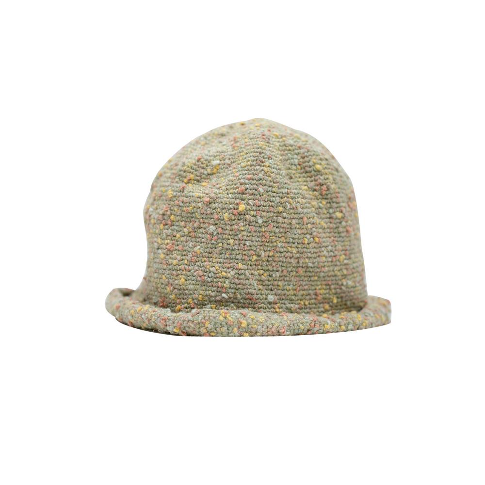 藍魚工坊│手編棉繩帽(清綠)
