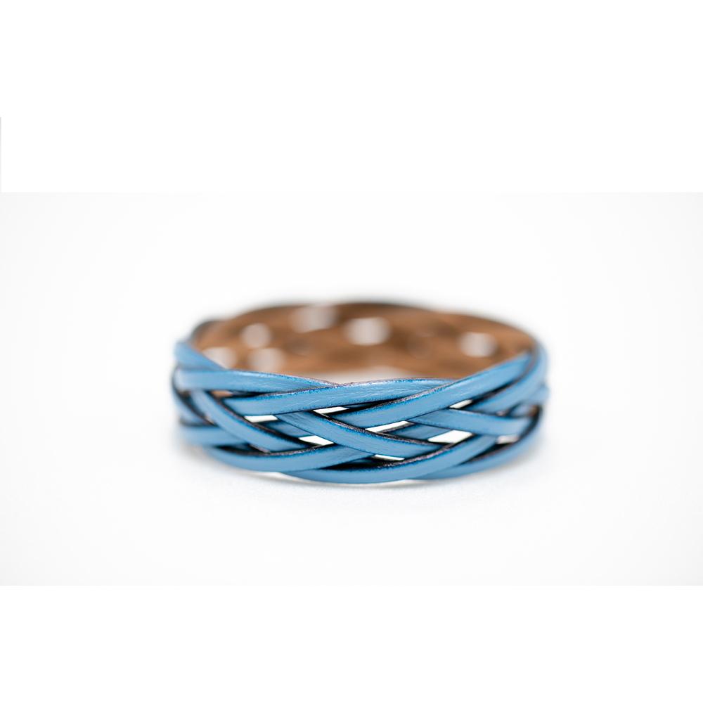 藍魚工坊│堅韌手環藍色(再生皮)